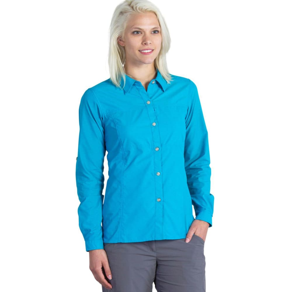 EXOFFICIO Women's Lightscape   Shirt - DEEP SEA