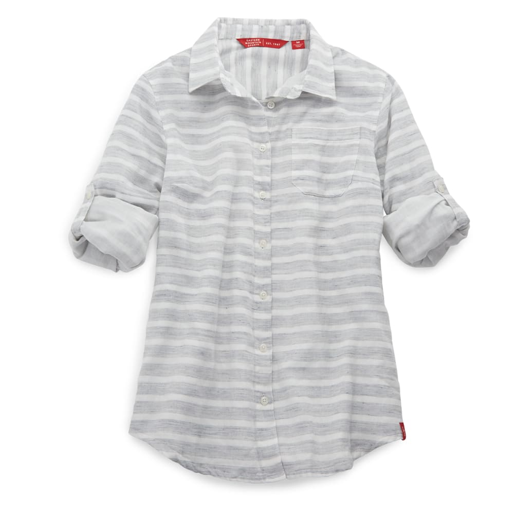 EMS® Women's Breeze Gauze Stripe Shirt - GREYSTRIPE