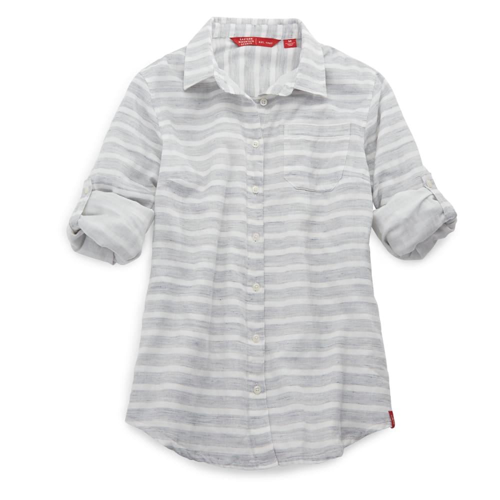 EMS Women's Breeze Gauze Stripe Shirt - GREYSTRIPE