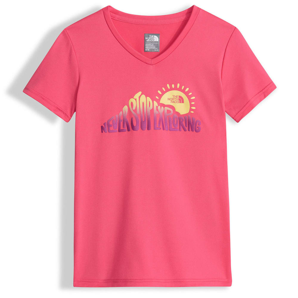 THE NORTH FACE Girls' Reaxion Short-Sleeve Tee - QAK-HONEYSUCKLE PINK