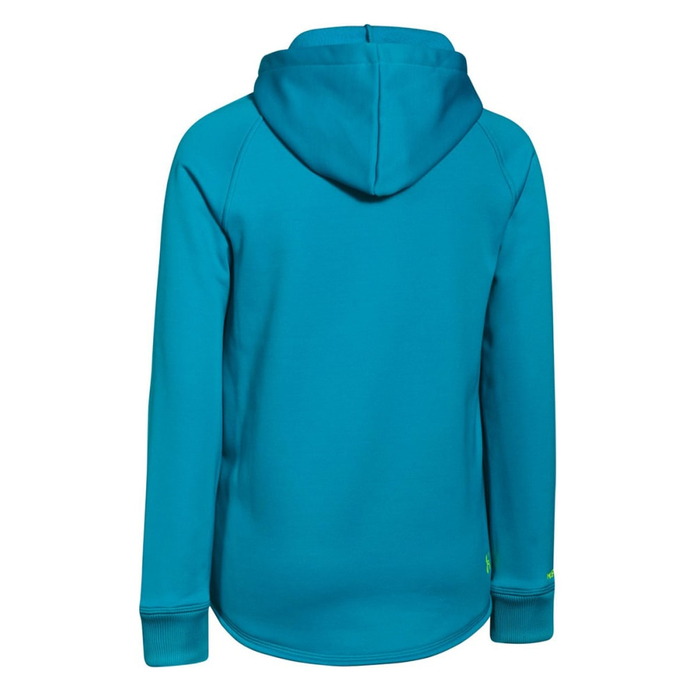 UNDER ARMOUR Girls' Storm Rival Hoodie - PACIFIC