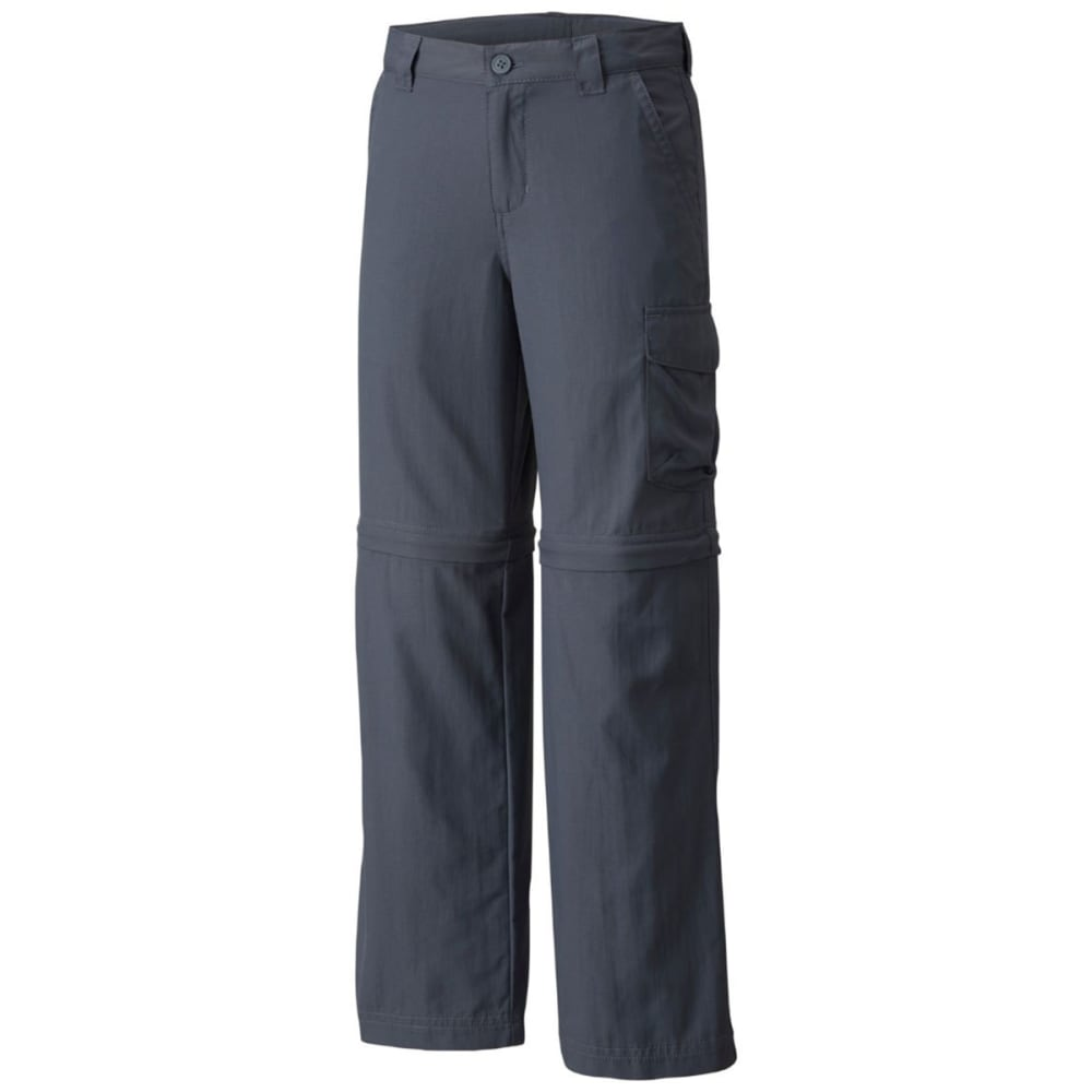 COLUMBIA Boys' Silver Ridge III Convertible Pants - 053-GRAPHITE