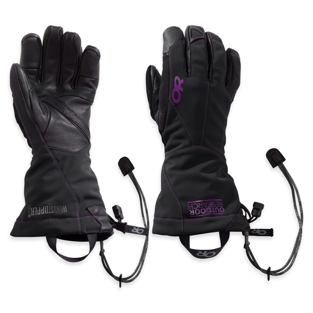 OUTDOOR RESEARCH Women's Luminary Sensor Gloves™ - BLACK/ ULTRAVIOLET