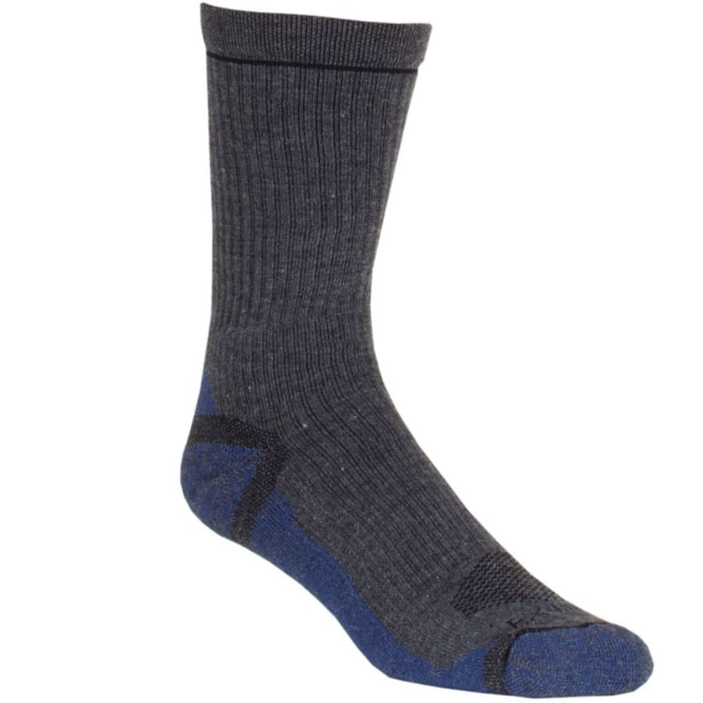 DNU - EX OFFICIO Men's BugsAway Hiker Crew Socks - DARK CHARCOAL