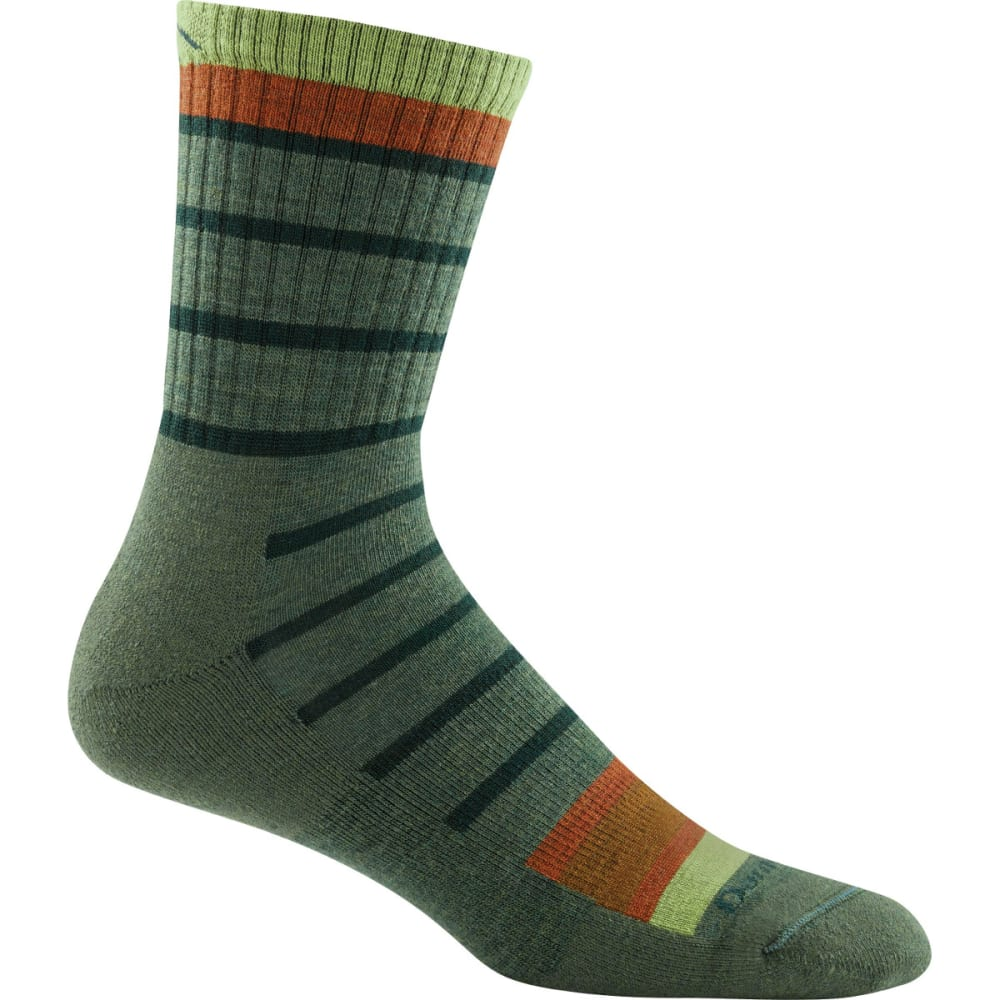 DARN TOUGH Men's Via Ferrata Micro Crew Cushion Socks - OLIVE GREEN