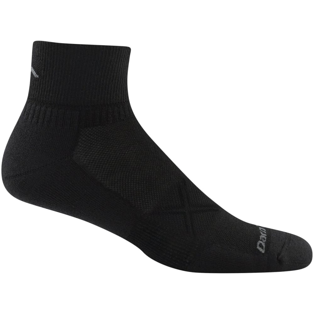 DARN TOUGH Men's Vertex 1/4 Ultra-Light Cushion Socks - BLACK