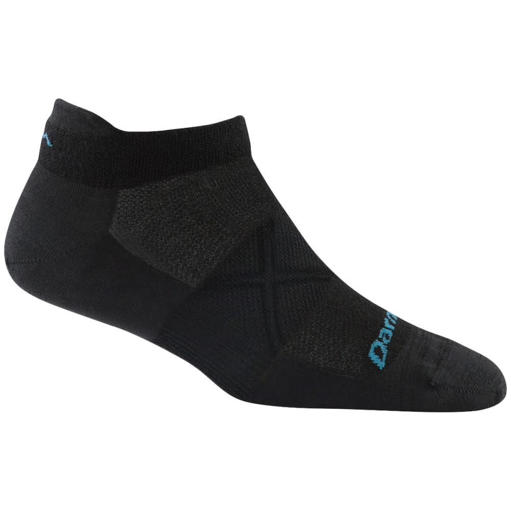 DARN TOUGH Women's Vertex Tab No Show Ultra-Light Cushion Socks - BLACK