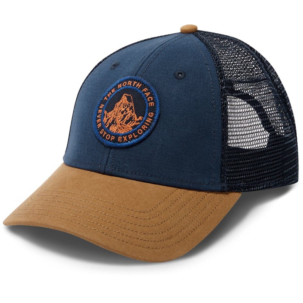 3f3582841ae THE NORTH FACE Patches Trucker Hat - 1VX-URBN NVY KHAKI