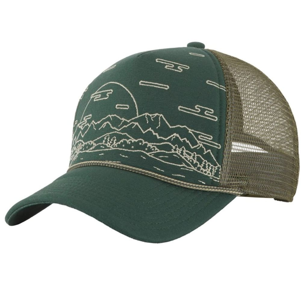 THE NORTH FACE Men's Cross Stitch Trucker Hat - SPRUCE