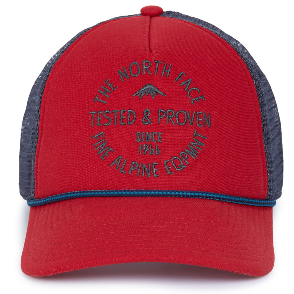 THE NORTH FACE Men's Cross Stitch Trucker Hat - POMPEIAN RED
