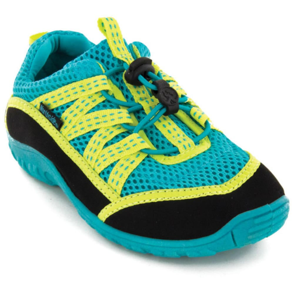NORTHSIDE Kid's Brille II Water Shoes, Aqua/Lime - AQUA
