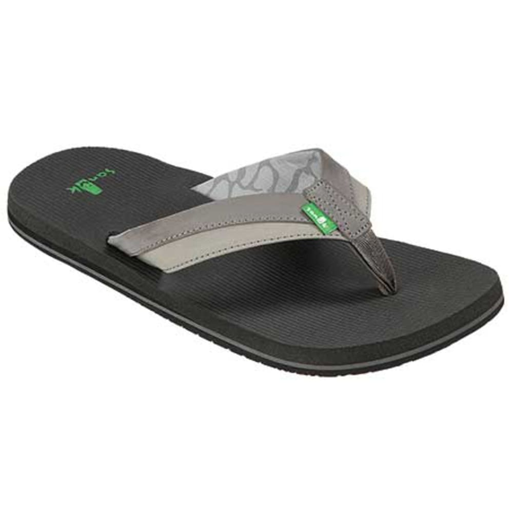 SANUK Men's Beer Cozy Light Flip Flops, Light Charcoal - CHARCOAL