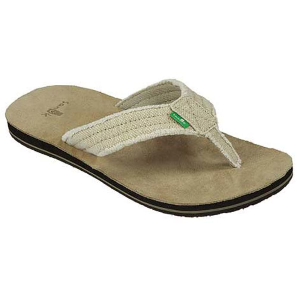 SANUK Men's Fraid Not Flip-Flops - NATURAL