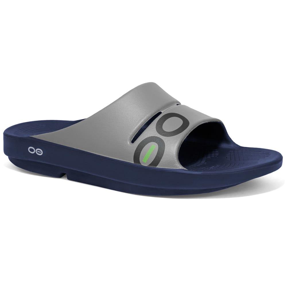 OOFOS OOahh Sport Sandals, Navy/Steel - NAVY