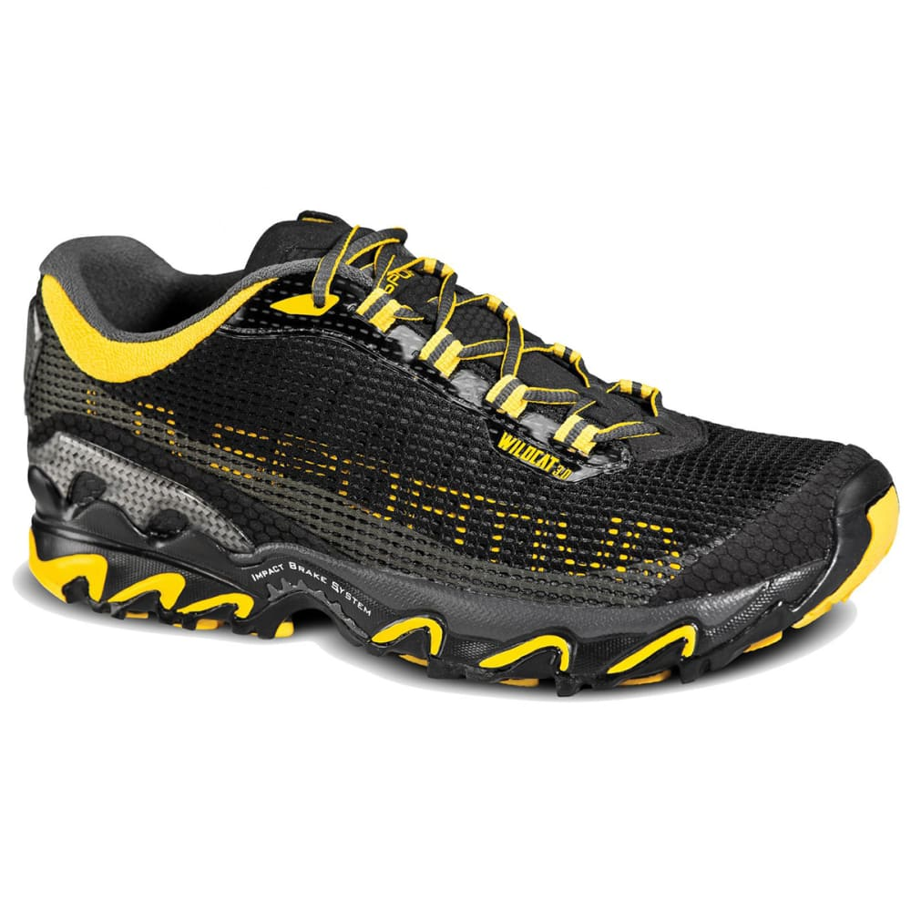 LA SPORTIVA Men's Wildcat 3.0 Trail Running Shoes - BLACK/YELLOW
