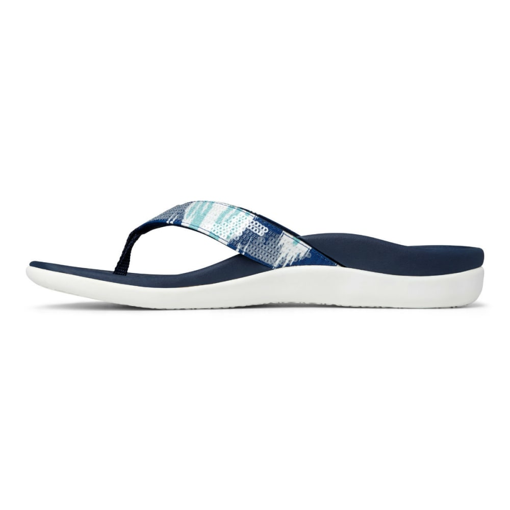 VIONIC Women's Tide Sequins Sandals - WHITE/NAVY