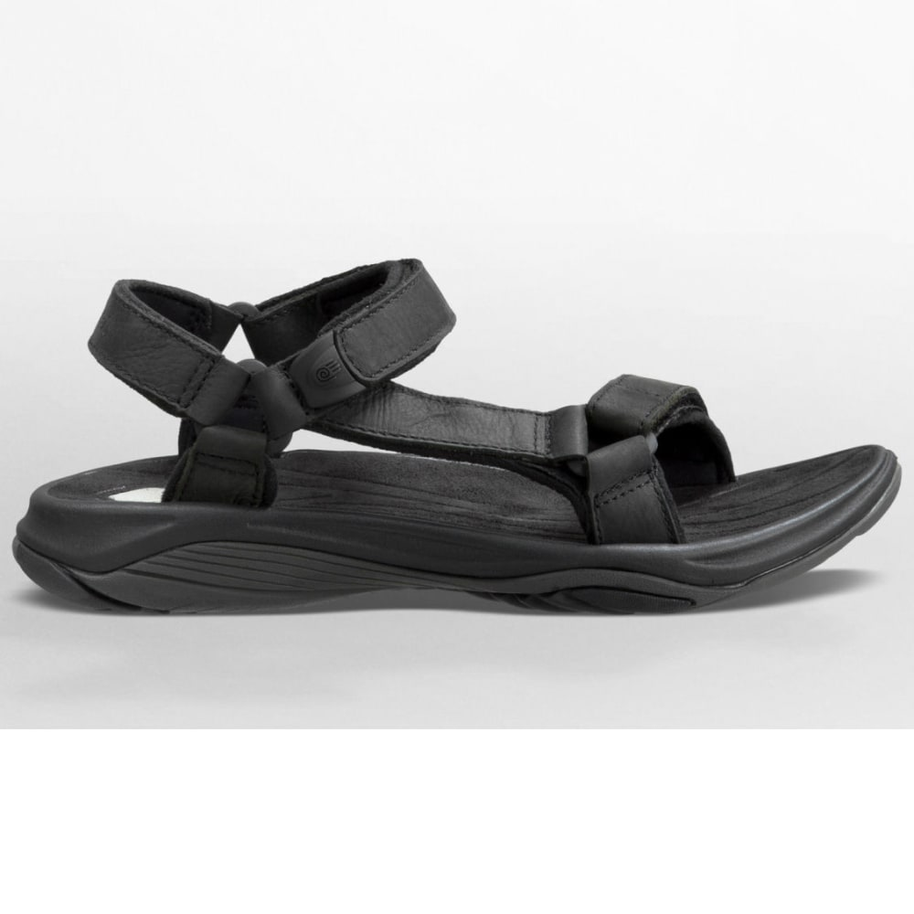 055b879fe94f4a TEVA Women  39 s Pretty Rugged Leather 3 Sandals - BLACK
