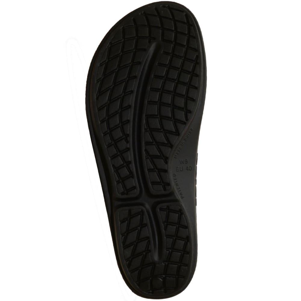 OOFOS Women's OOlala Slide Sandals, Black/Seafoam - BLACK