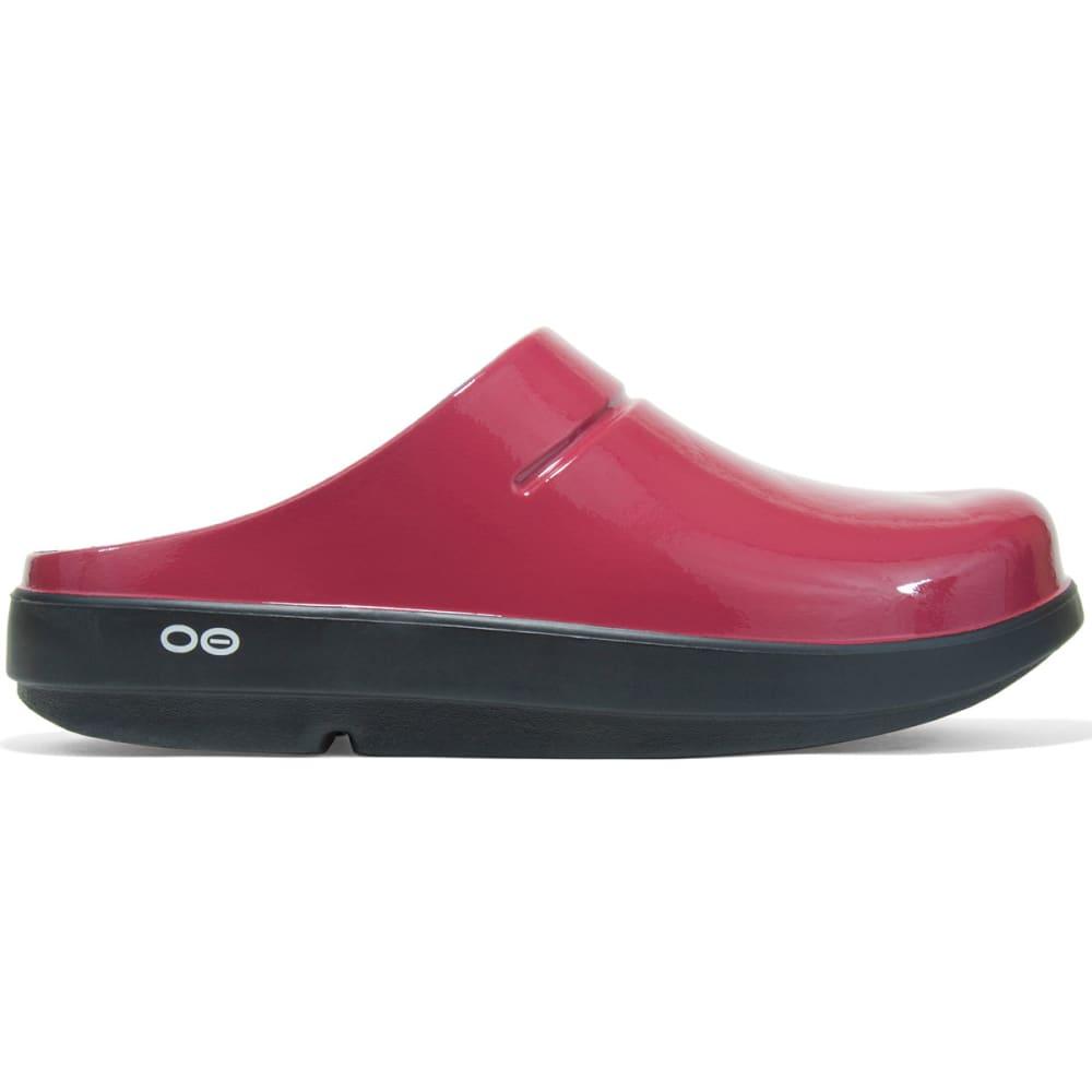 OOFOS Women's OOcloog Luxe, Cranberry - CRANBERRY