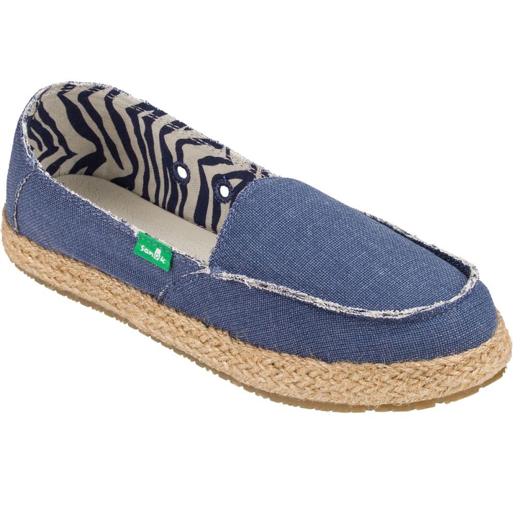 SANUK Women's Fiona Shoes, Slate Blue - SLATE BLUE