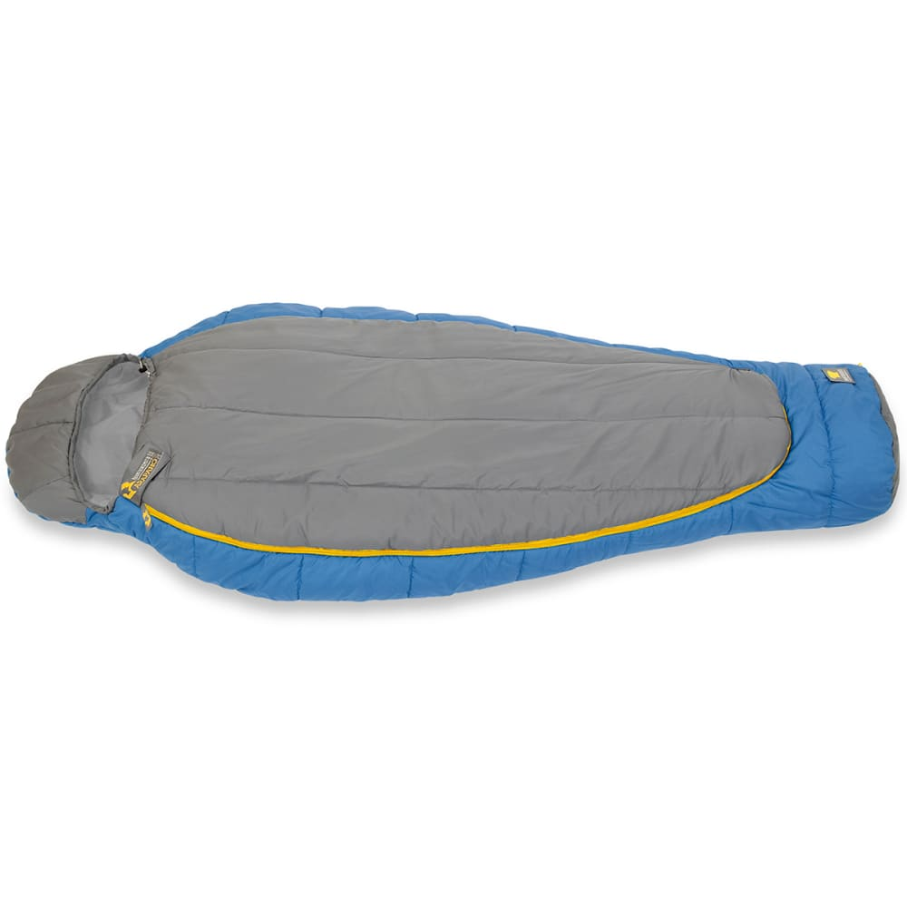 MOUNTAINSMITH Arapaho 20°F Synthetic Sleeping Bag, Short - CHARCOAL GREY