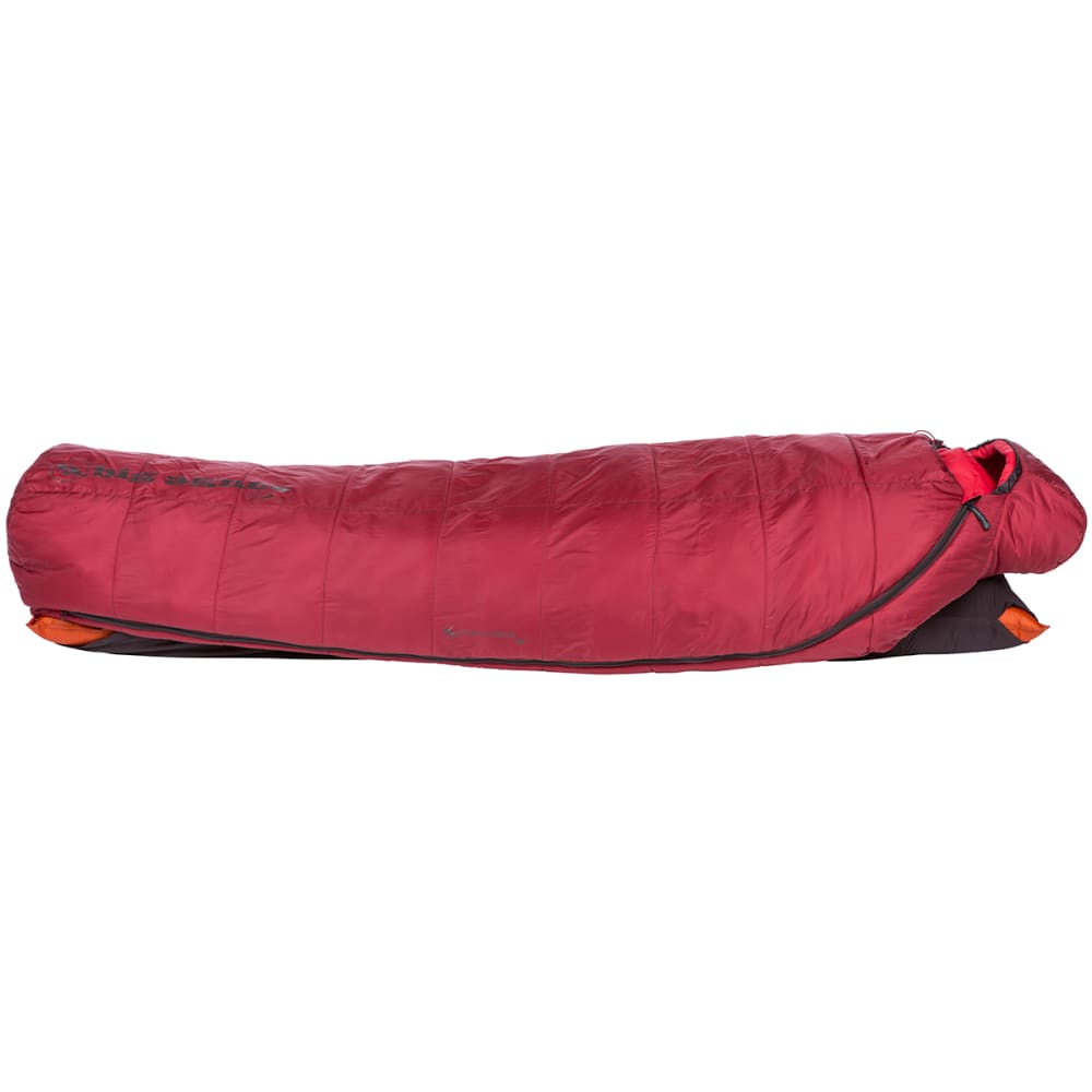 BIG AGNES Gunn Creek 30 Sleeping Bag, Long - ORANGE/RED