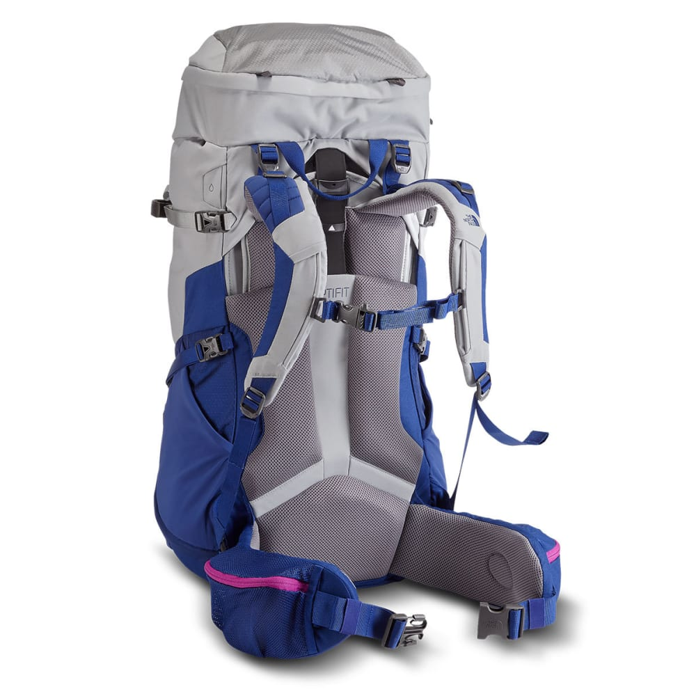 THE NORTH FACE Women's Terra 55 Backpack - HIGH RISE GREY/BLUE