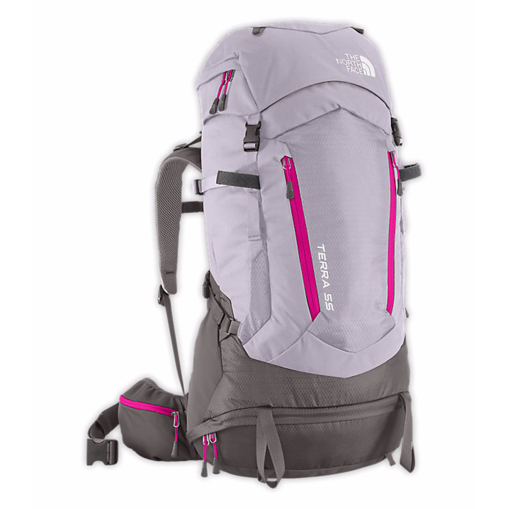 THE NORTH FACE Women's Terra 55 Backpack - DAPPLE GREY/PINK