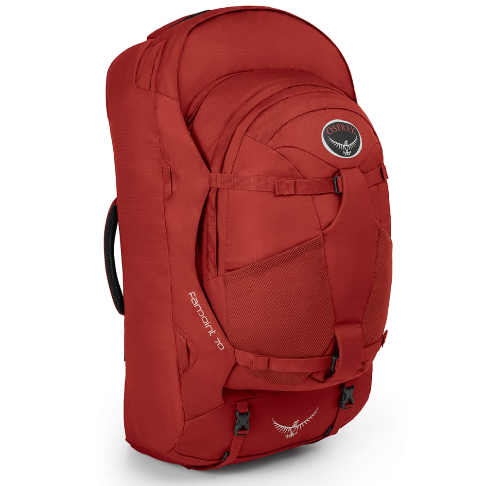 OSPREY Farpoint 70 Travel Pack, Jasper Red - JASPER RED