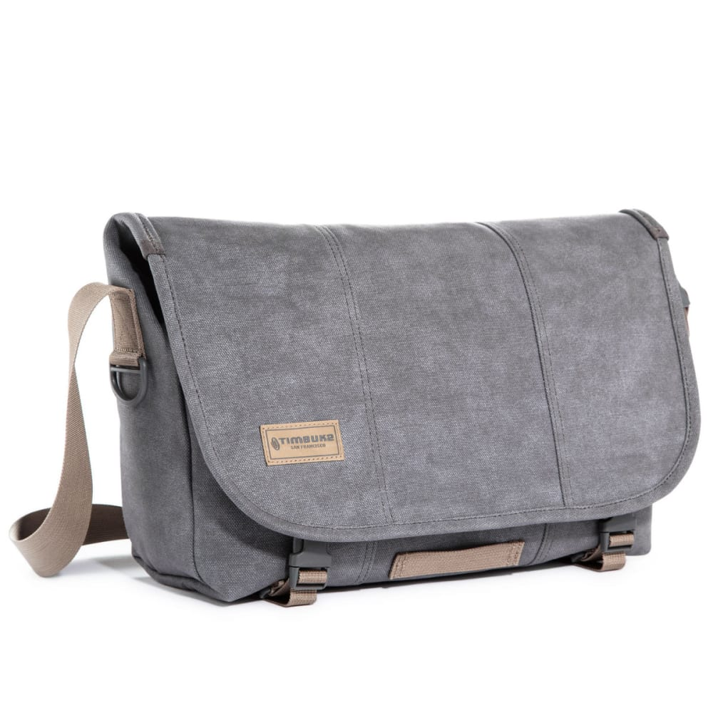TIMBUK2 Medium Vintage Metal Classic Messenger Bag - LIGHT GREY