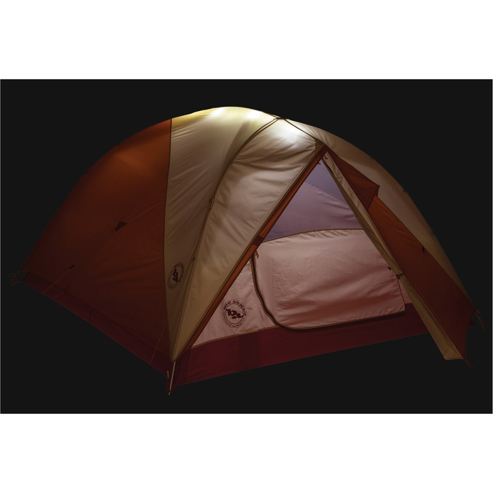 BIG AGNES Rocky Peak 4 mtnGLO Tent - ORNG/CREAM