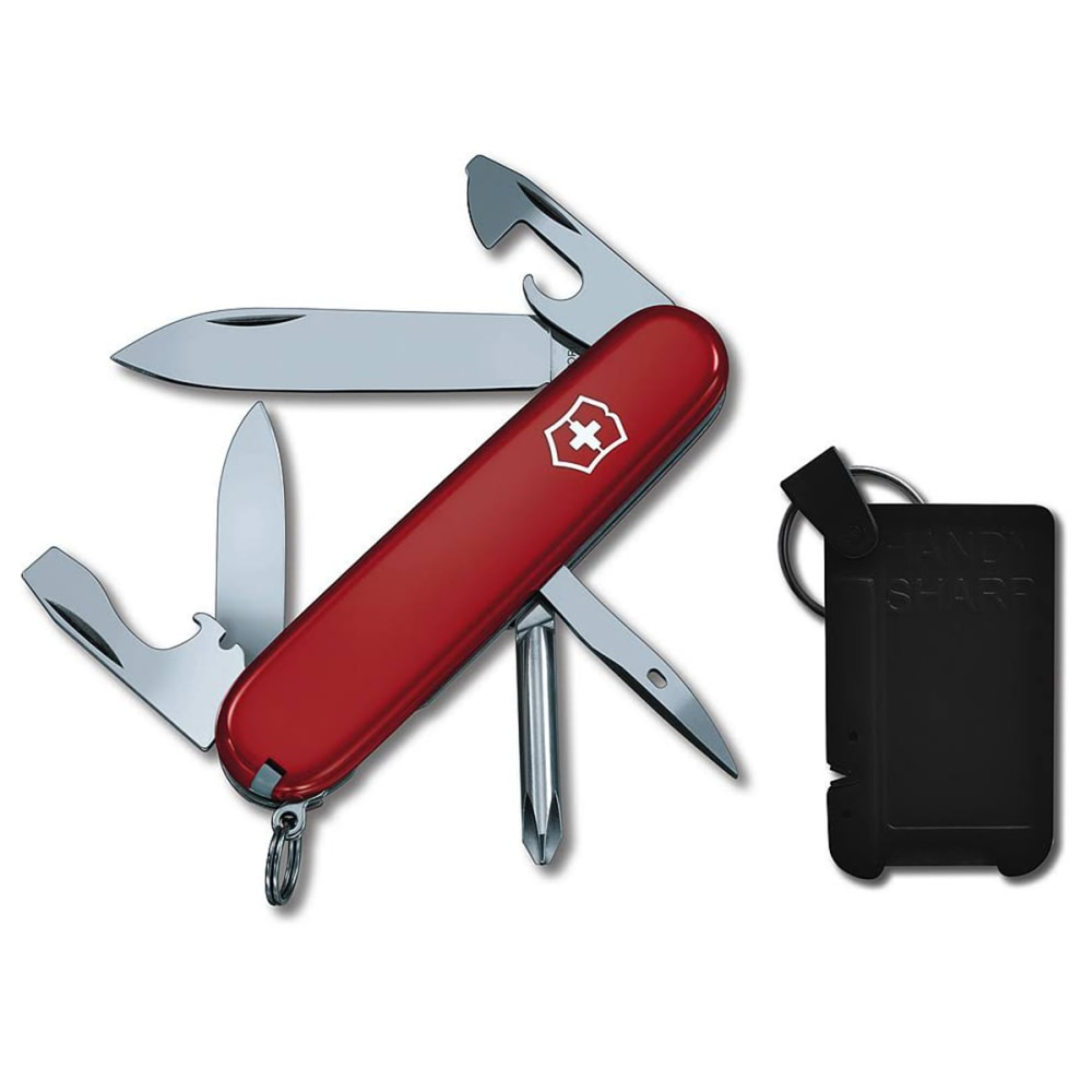 SWISS ARMY KNIFE Tinker 2 Piece Set with Sharpener - RED