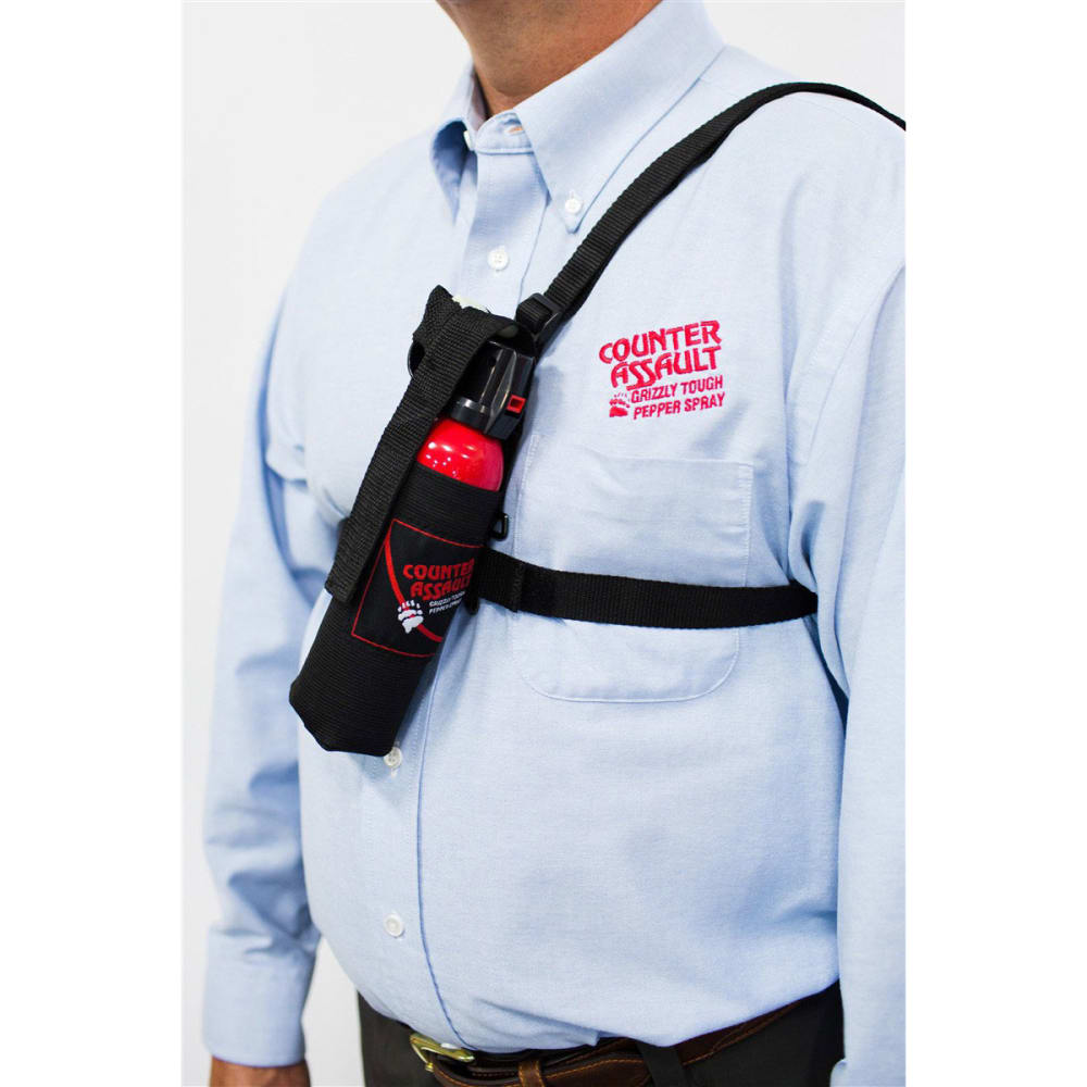 COUNTER ASSAULT Bear Spray Chest Holster, 3 in. - BLACK