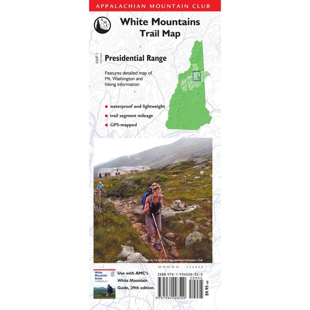 Appalachian Mountain Club White Mountains Trail Map: Presidential Range