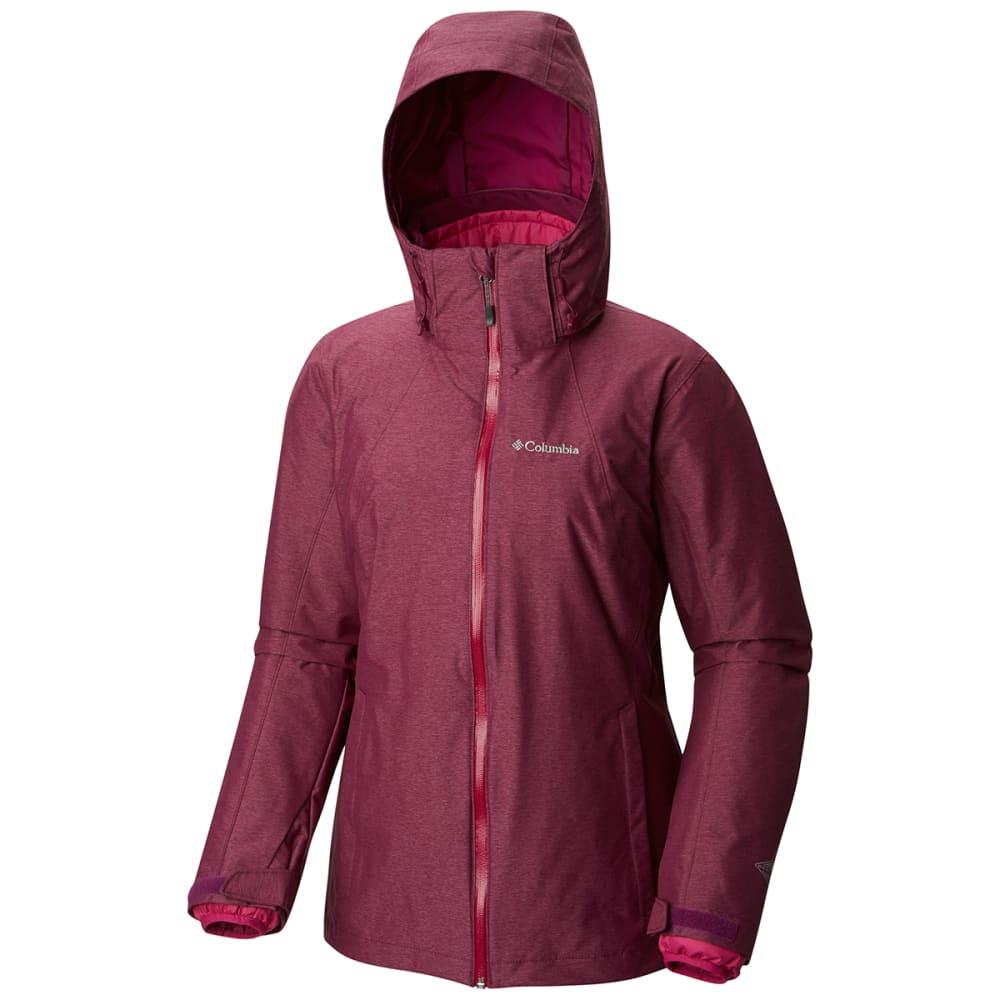 COLUMBIA Women's Whirlibird Interchange Jacket - 520-DRK RASPBERRY CR
