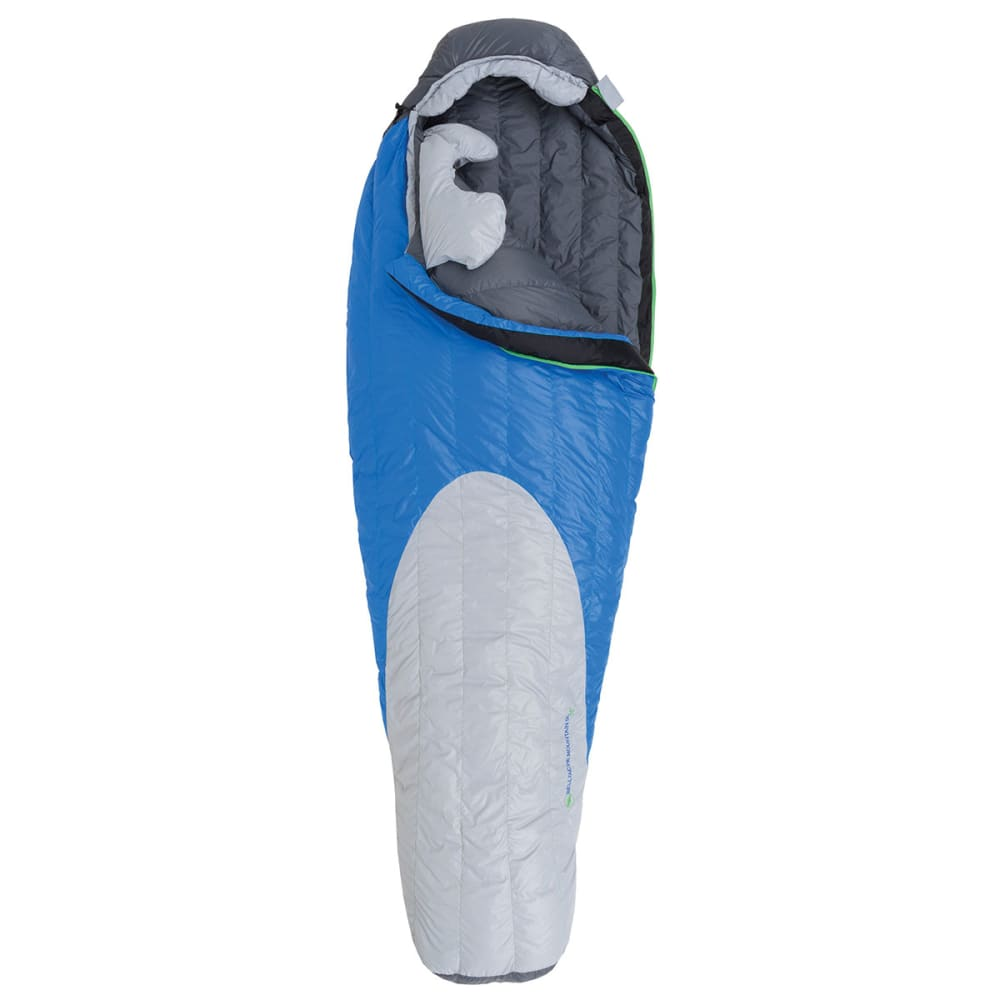 BIG AGNES Bellyache Mountain SL 17 Sleeping Bag, Long - BLUE/GREY