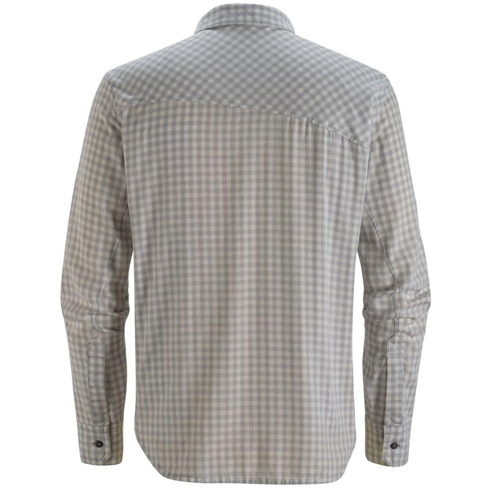 BLACK DIAMOND Men's Spotter Long-Sleeve Shirt - ICE/ALUMINUM GINGHAM