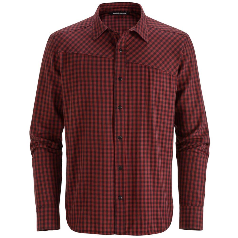BLACK DIAMOND Men's Spotter Long-Sleeve Shirt - Port/Dp T gingham