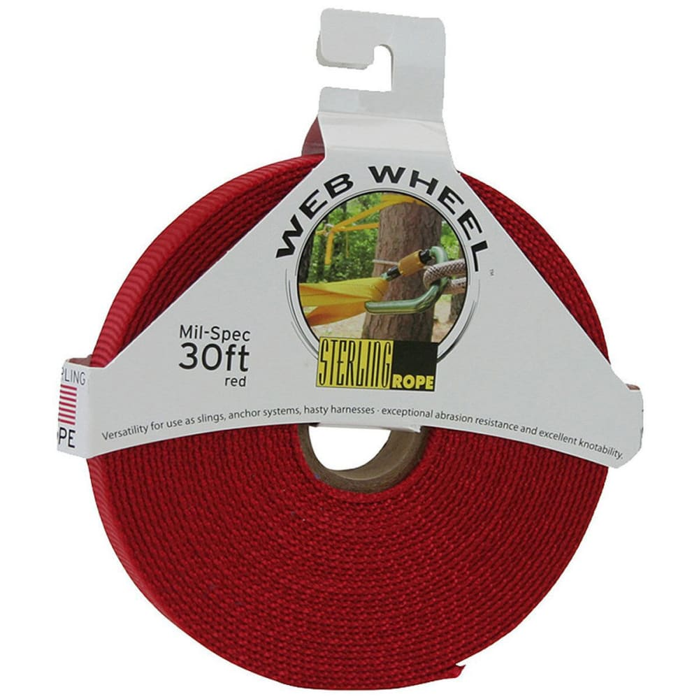"STERLING 1"" TechTape Web Wheel 30' - RED"