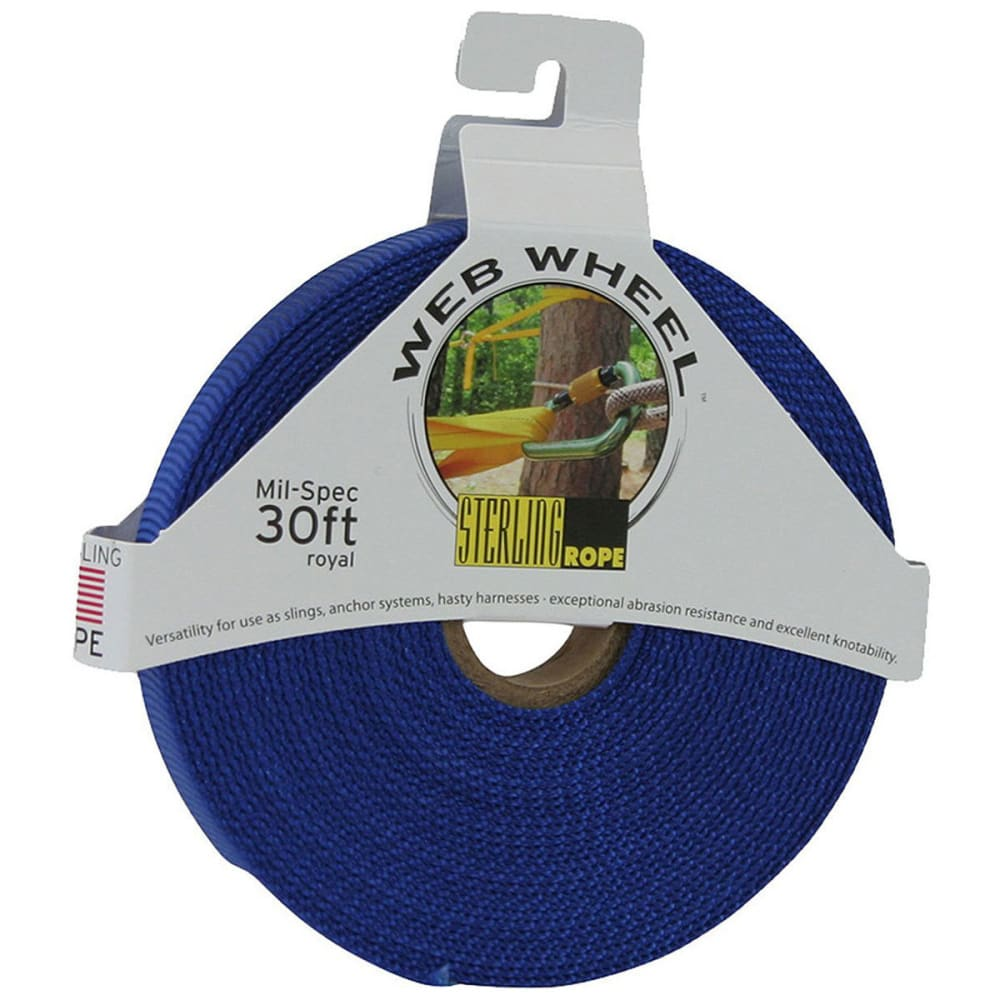 "STERLING 1"" TechTape Web Wheel 30' - ROYAL BLUE"