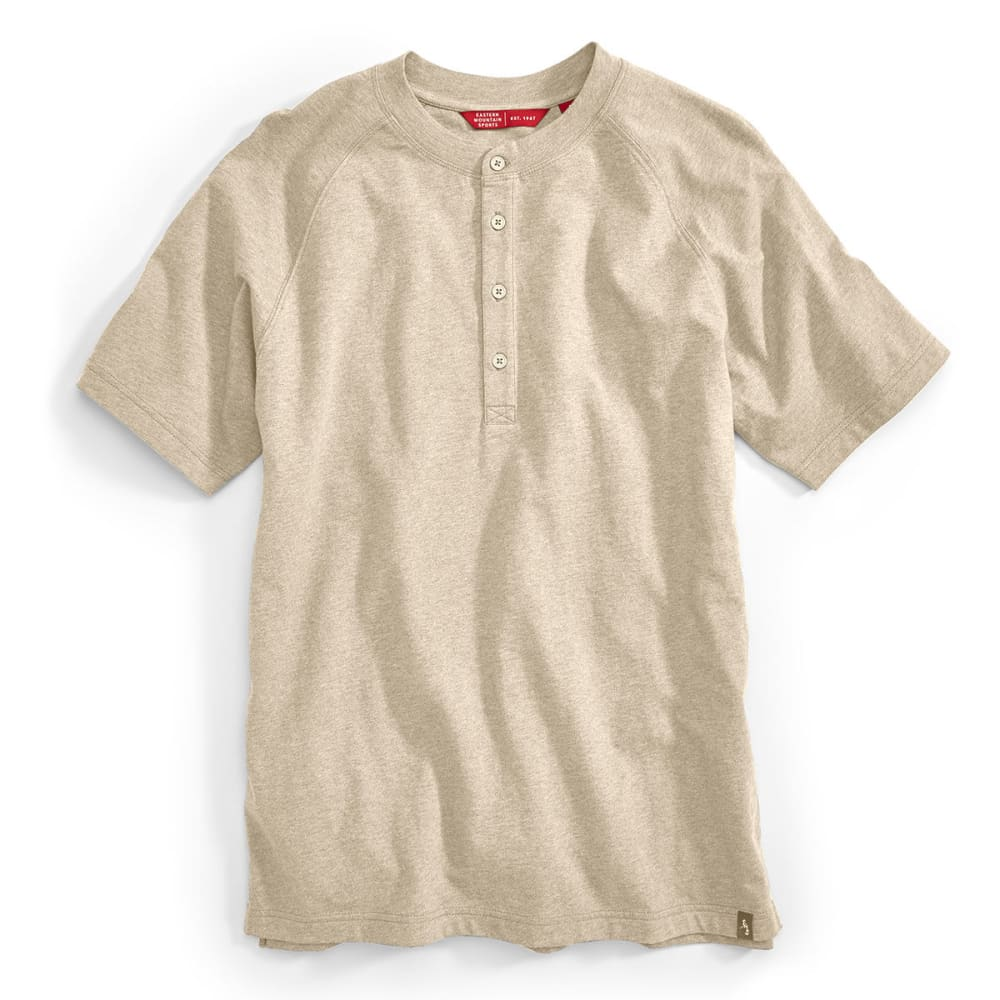 EMS® Men's Alder Short-Sleeve Henley Tee - WHITE PEPPER HEATHER