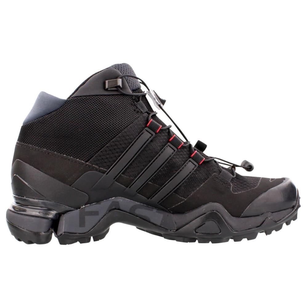 ADIDAS Women's Terrex Fast R Mid GTX Hiking Boots - BLK/DK GREY/PWR RED