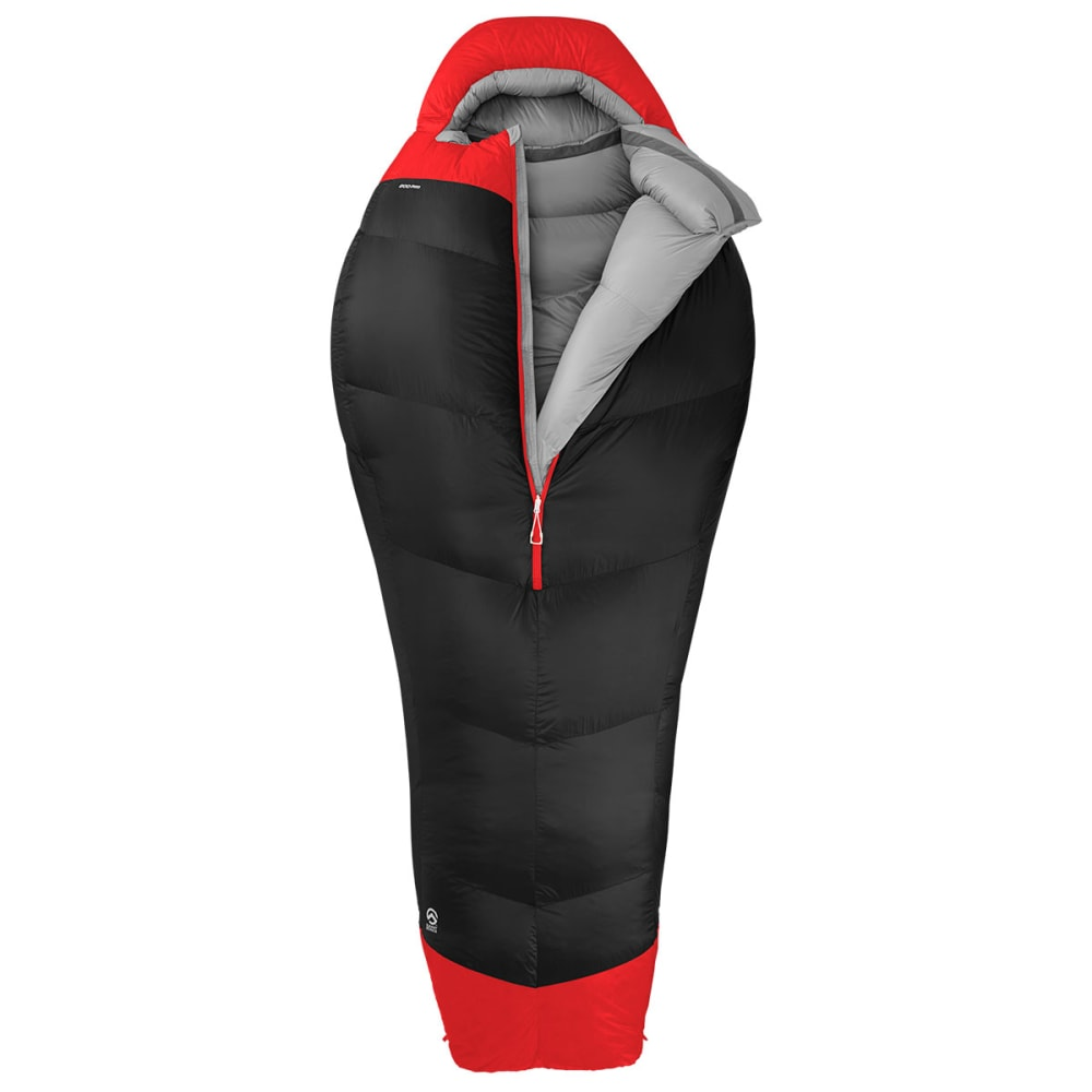 THE NORTH FACE Inferno -40° Sleeping Bag, Long - ASPHALT GREY/RED