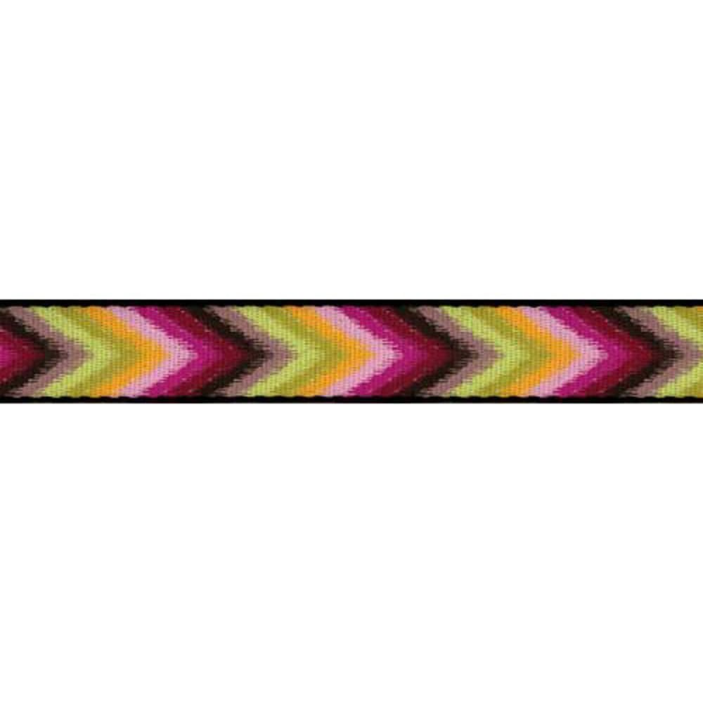 CROAKIES Artisan 1 Chevron Limefest Belt - CHEVRON LIMEFEST