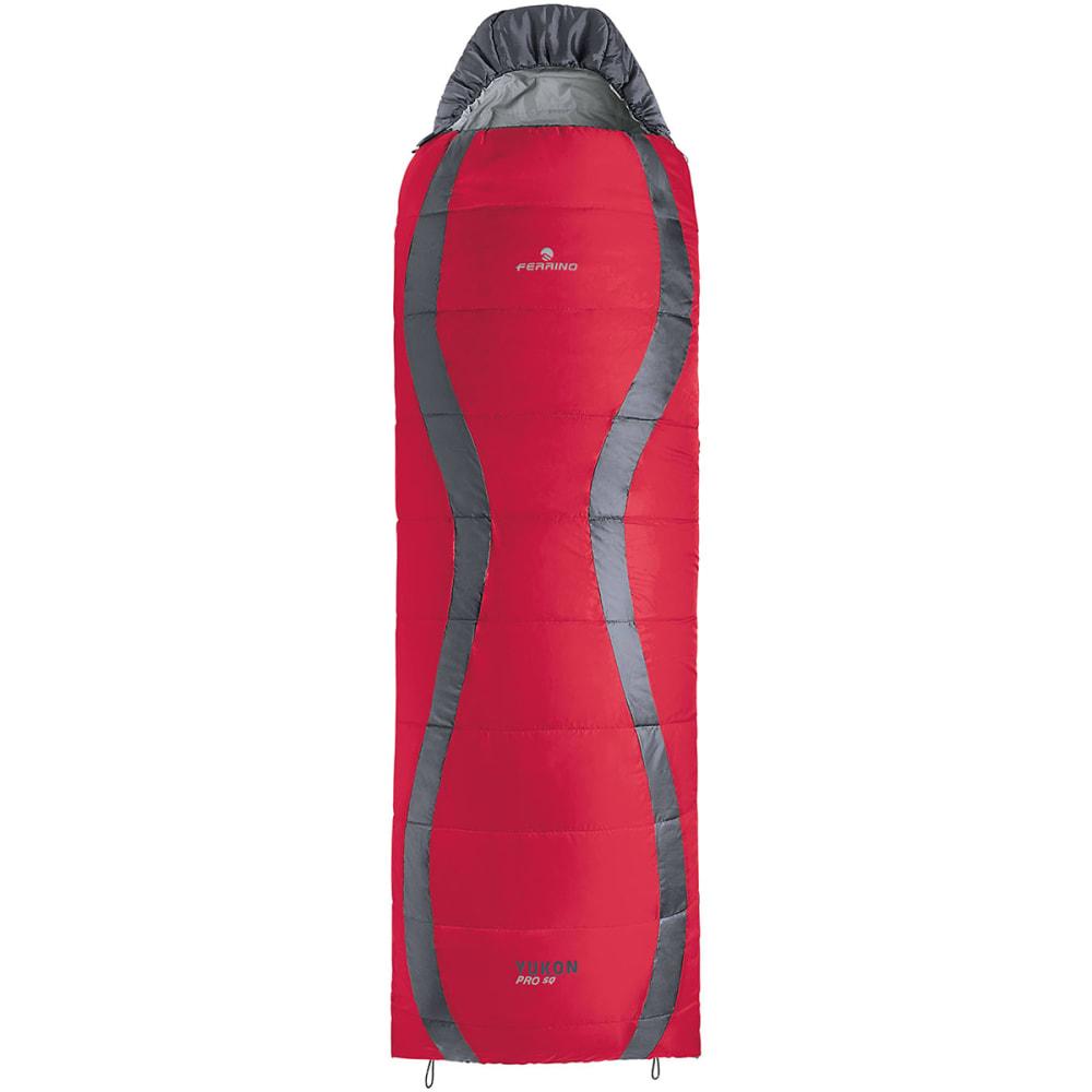 Ferrino Yukon Pro Square Sleeping Bag Red Grey