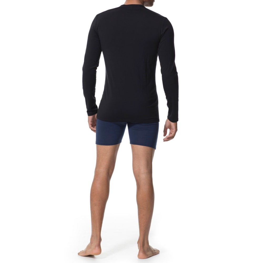 ICEBREAKER Men's Anatomica Long Sleeve Crewe - BLACK/MONSOON