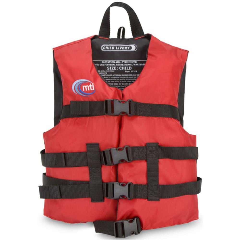 MTI Child Livery Life Jacket - RED/BLACK