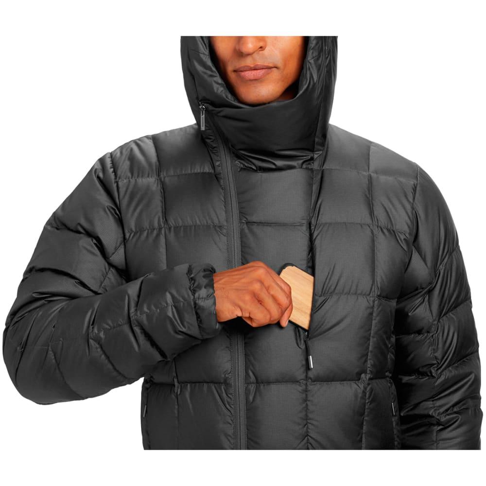NAU Men's Down Hoody Jacket - CAVIAR HEATHER