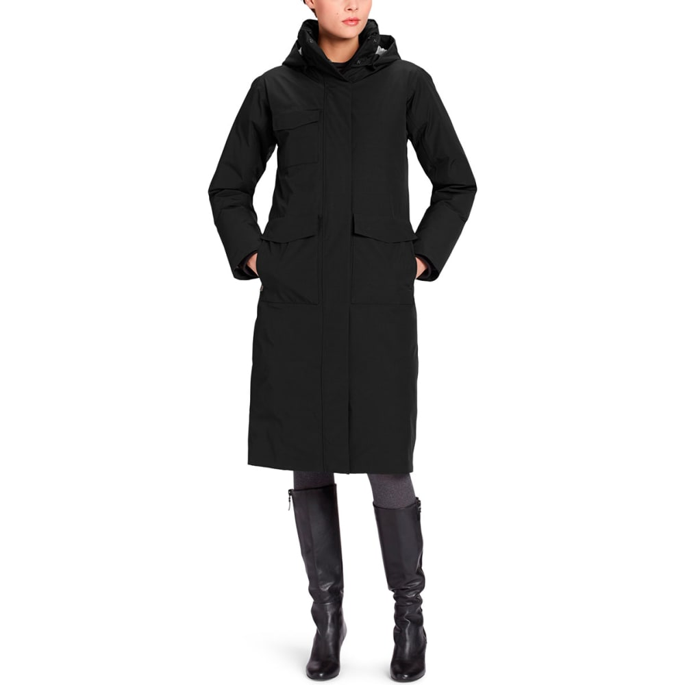 NAU Women's Copenhagen Recycled Down Trench - CAVIAR