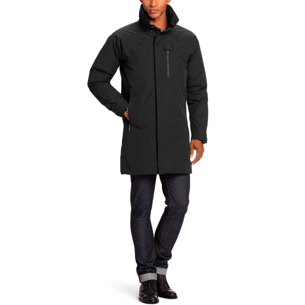 NAU Men's Copenhagen Recycled Down Trench - CAVIAR